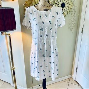 Free people blue floral summer dress NWT